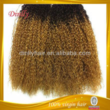 Full cuticle wholesale ombre hair colored two tone hair weave