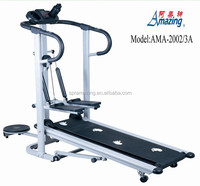 Body fit exercise treadmill 3 in 1 manual treadmill with twister and stepper AMA-2002/3A