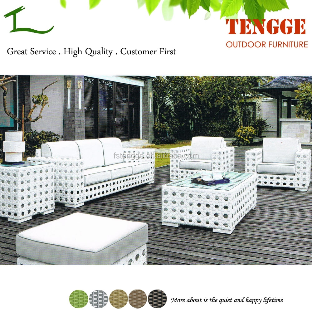 Yh 6163 Hot Sale Modern White Outdoor Ratan Garden Furniture View Garden Classics Outdoor