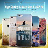 literature and art pattern phone case for apple iphone 6 6s 6plus back cover