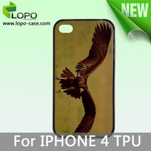 blank mobile phone covers Sillicon/Rubber for sublimation for Iphone 4