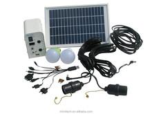 Africa Hot sale 12V solar kits 5w soalr panel 12v 4ah battery and 2pcs 12v 3w led lamp