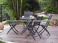 Starbucks furniture outdoor coffee set, plastic wood folding cafe table chair
