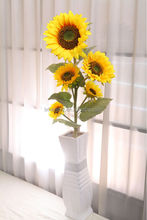 NZ-8001High quality fabric decorative artificial flowers sunflower