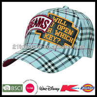 fashion cap - woven cloth fabric with patch logo
