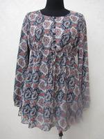 Islamic Kurta Blouse New Design Abaya chiffon Long Sleeve Muslim Wholesale