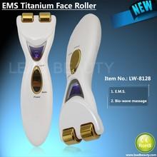 Facial massager machine and EMS facial titanium roller