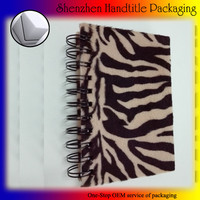 factory hot sale velvet leopard print pattern paper notebook with blank pages accept customized printing