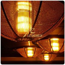 Decorative metal chainmail ring mesh for hotel room dividers