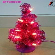 luz Mini PVC rojo LED rojo del árbol de Navidad