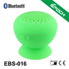 Silicone suction cup bluetooth speaker with built-in rechargeable battery and highly sensitive microphone
