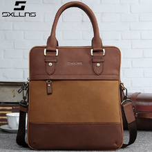 Sxllns best selling man handbag leather shoulder bag