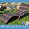 SGS test pe rattan outdoor furniture mix color wicker sun bed