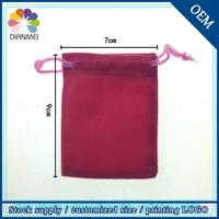 Wholesale Promotional 7x9cm Jewelry Drawstring Custom Logo Velvet Pen Bag