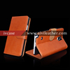 luxury top layer leather mobile phone booklet case for samsung galaxy note 4 wallet case with business card slots
