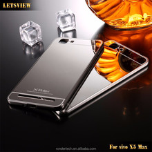 Hot Selling Metal Aluminium bumper plated Mirror Back Case Cover For BBK vivo x5 max