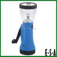 2015 Portable muiltifunction hand crank rechargeable Flashlight,Hand crank led flashlight for Camping/Emergency/hunting G01E101