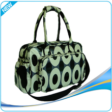 2015 New design printing Customized top quality name brand diaper bags