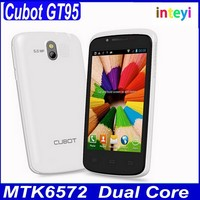 Original Cubot GT95 Mobile MTK6572 Dual Core Android 4.2.2 4.0 Inch 3G Smart Phone 5MP Camera 512MB RAM 4GB ROM Cellphone