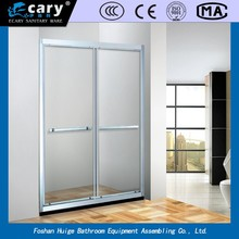EC-286 the more suitable and comfortable stainless steel tempered glass simple shower enclosure