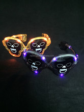 fun LED halloween skull shaped Goth light up flashing glasses Gothic Halloween party Costume Accessory
