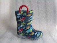 Lovely carton printed pvc rain boot for boys