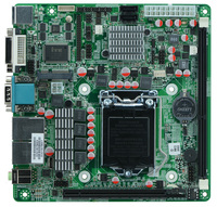 Factory OEM Intel H61 LGA1155 socket ITX Mainboards with 9*usb 2.0/2Gigabit