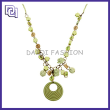 2015 HOT DESIGN NECKLACE,FINE JEWELRY ROUND PENDANT NECKLACE,FLOWER SHAPED BEADS NECKLACE FOR GIRLS