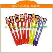 Hot sale new design cheap polymer clay ball pen gel stick pen