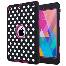 Heavy duty 3 in 1 defender case for ipad mini tablet cases