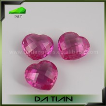 4x4 mm Heart shape Synthetic Ruby for fashion pendants