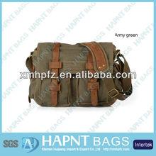 Vintage Canvas Leather men shoulder bag