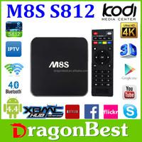 Tv Box S812 M8S 1.6 Ghz Quad Core Androide Hd Internet Google Tv Box Support Kodi15.0