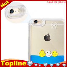 Hot items cute 3D yellow rubber yellow duck cell phone case for iphone 6