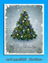 Arts Paintings Merry Christmas Trees Prints Wall Art