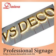 Outdoor Decoration Workshop Back-lit LED Stainless-Steel Letters Signs