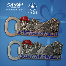Schwarzwald souvenir bottle opener with beautiful city