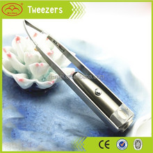 led electric eyebrwo tweezers with light