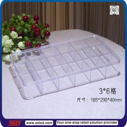 TSD-A157 wholesale clear plexiglass storage box/acrylic jewelry display case/acrylic storage box with lid