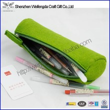 2015 hot new high quality felt material round pencil case