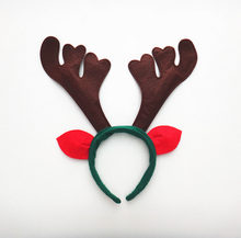 multicolor christmas party plastic hair band/head band with wing/deer ear