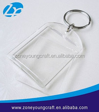 2015 Clear acrylic keychain for different photos insert
