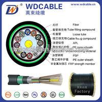 2015 NEW ! 144 core fiber optic cable pvc jacket GYFTA53 optic fiber cable