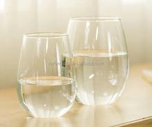 FDA wholesale factory price stocked clear cheap water glass, juice drinking glass/ light tea glass customized customer logo