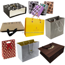 recycled custom gift paper bag_paper shopping bag supplier_kraft shopping paper bag