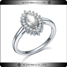Top Fashion Opal Ring Sterling Silver 925 Unique Micro Setting Silver Jewelry 925 Best Selling Products 2015