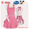 Pink White Polka Dot Domestic restaurant princess women lady Goddess Apron
