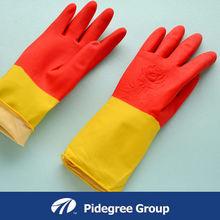 spray flocklined extra long household gloves