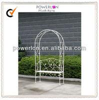 Ornamental garden arch and bench