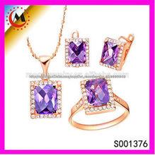 Purple Crystal 18k oro barato de la joyería de